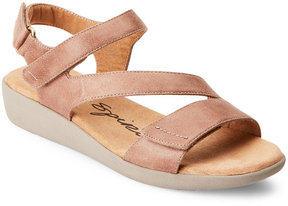 Easy Spirit Taupe Kailynne Strappy Comfort Wedge Sandals