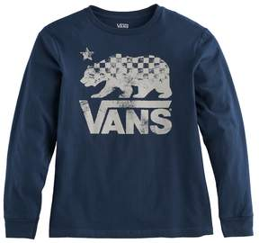 Vans Boys 8-20 Checkered Bear Graphic Tee