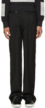 Hood by Air Black Suiting Snappers Trousers