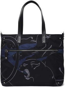 Valentino Shopper With Panther Print