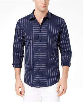 INC International Concepts I.n.c. Men's Striped Regular-Fit Shirt, Created for Macy's