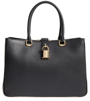 Dolce & Gabbana Grained Leather Shopper - Black - BLACK - STYLE
