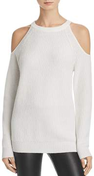 Aqua Cashmere Chunky Cold-Shoulder Sweater - 100% Exclusive
