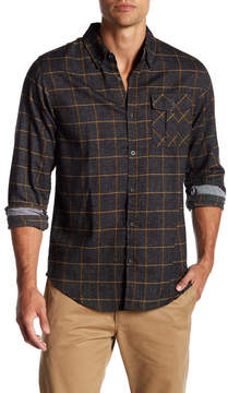 Burnside Windowpane Long Sleeve Regular Fit Shirt