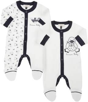 Armani Junior Set Of 2 Cotton Jersey Rompers