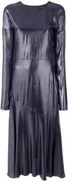 Cédric Charlier crepe de chine long dress