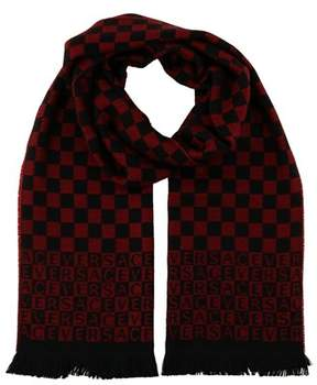 Versace It00628 Rosso Dark Red 100% Wool Mens Scarf.