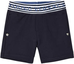 Versace Navy Branded Waist Infants Sweat Shorts