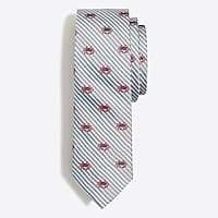 J.Crew Factory Embroidered seersucker tie