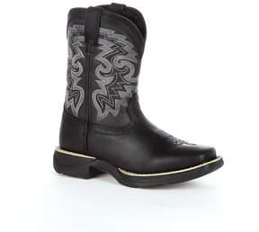 Durango Lil Black Stockman Kids Western Boots