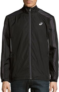 Asics Men's Long-Sleeve Front-Zip Jacket - Black, Size x-large