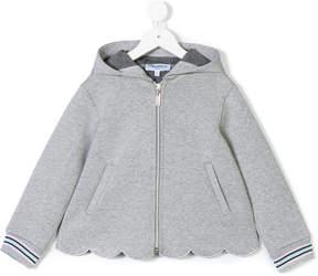 Simonetta scalloped hem hoodie