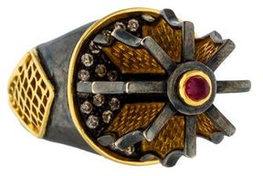 Amrapali Diamond & Ruby Rotary Ring