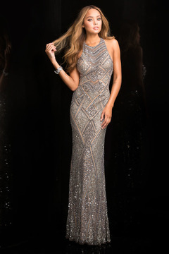 SCALA - Beaded Long Prom Dress 48688