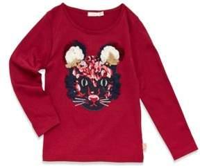 Billieblush Toddler's, Little Girl's & Girl's Long Sleeve Cat Graphic Shirt