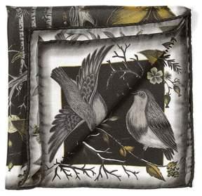 Aspinal of London The Dockery Robin Silk Twill Handkerchief