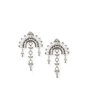 DYLANLEX Ivy X Crystal Fan Drop Earrings