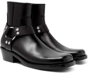 Balenciaga Leather Harness Boots
