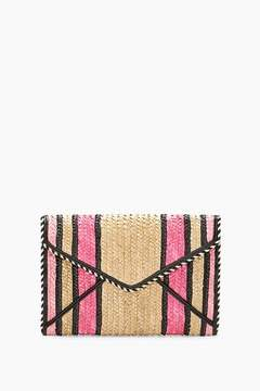 Rebecca Minkoff Straw Leo Clutch - ONE COLOR - STYLE