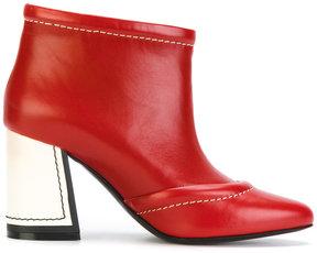 Marni contrasting covered heel booties