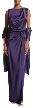 St. John Liquid Satin Wrap, Violet