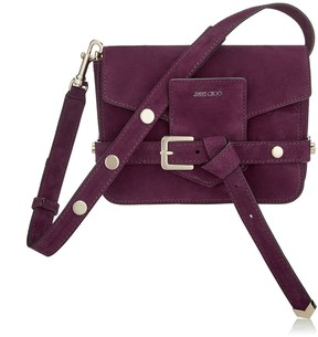 Jimmy Choo LEXIE/S Grape Suede Cross Body Bag
