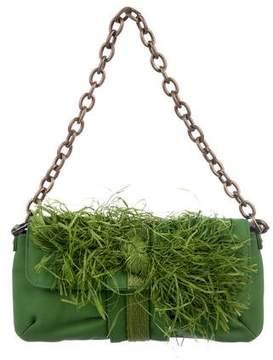 Lanvin Raffia-Trimmed Mini Bag