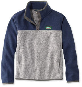 L.L. Bean Kids' L.L.Bean Sweater Fleece, Pullover Colorblock