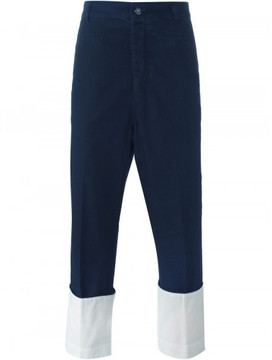 Loewe turn-up hem cropped trousers