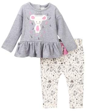 Jessica Simpson Dancing Mouse Tunic & Legging Set (Baby Girls)