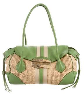 Prada Lizard & Straw Bag