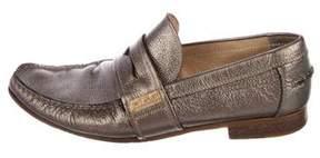Dolce & Gabbana Metallic Penny Loafers