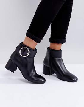 Park Lane Buckle Kitten heel Leather Boot