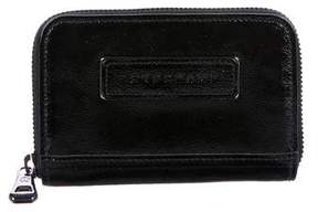 Longchamp Patent Leather Compact Wallet - BLACK - STYLE