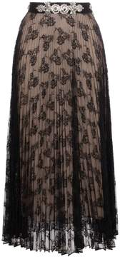 Christopher Kane pleated lace skirt with crystal