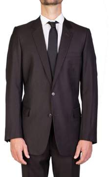 Christian Dior Men's Wool Two-Button Suit Pinstriped Charcoal Grey