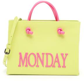 Alberta Ferretti Leather Monday Shopping Bag