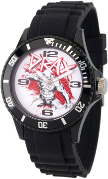 Marvel Guardian Of The Galaxy Mens Black Strap Watch-Wma000109