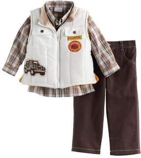 Nannette Baby Boy 3-pc. Quilted Vest