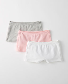 Hanna Andersson Girlshort Unders 3 Pack In Organic Cotton With Stretch