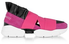 Emilio Pucci Women's Pink Polyester Slip On Sneakers.