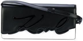 Karl Lagerfeld embossed logo shoulder bag