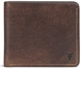 Trask Men's 'Jackson' Slimfold Bison Leather Wallet - Brown