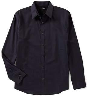 Murano Liquid Luxury Slim Long Sleeve Dobby Point Collar Woven Shirt