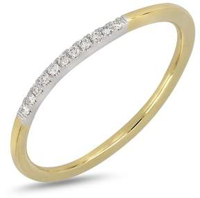 Bony Levy 18K Two-Tone Gold Pave Diamond Detail Ring - 0.05 ctw