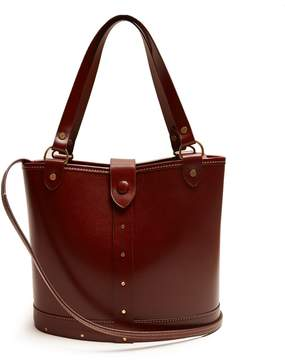 The Row Bucket contrast-stitch leather bag
