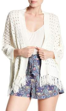 Bishop + Young Fringe Open Knit Shawl