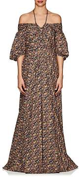 Zac Posen Women's Floral Cotton Off-The-Shoulder Gown