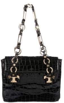 Tory Burch Embossed Jordana Bag - BLACK - STYLE