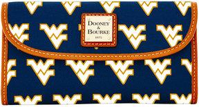 Dooney & Bourke West Virginia Mountaineers Large Continental Clutch - NAVY - STYLE
